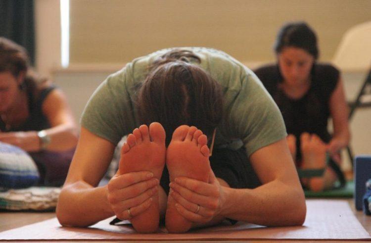 Een yoga positie voor lenige mensen