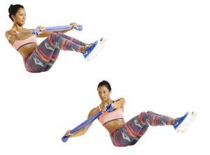 Work out oefening 3: Buikspier twist