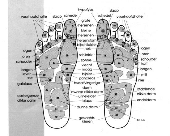 voetmassage drukpunten