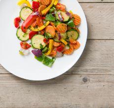 Bord met groente